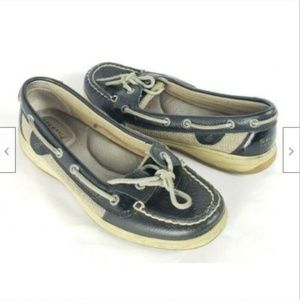 Sperry Top-Sider CH73 Blue Leather Boat Shoes 8.5M